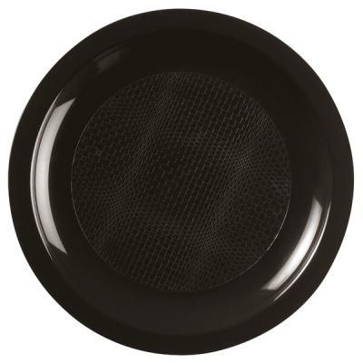 Assiette à dessert incassable noire 18cm (x10) REF/52752