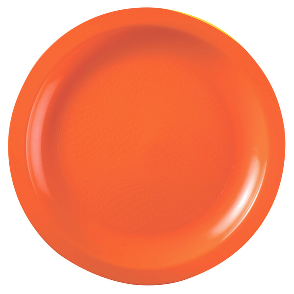 Assiette ronde a dessert incassable 18cm orange