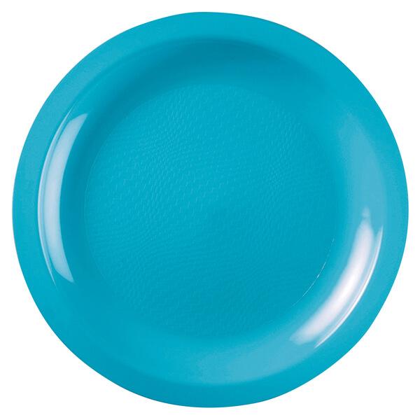 Assiette ronde a dessert incassable 18cm turquoise
