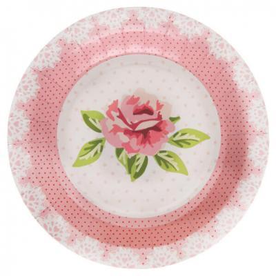 Assiette liberty avec roses (x10) REF/5404