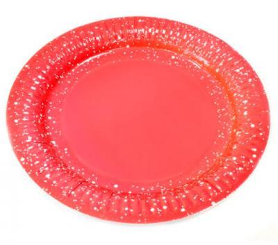 Assiette rouge, 18cm (x6) REF/JET001A/PM