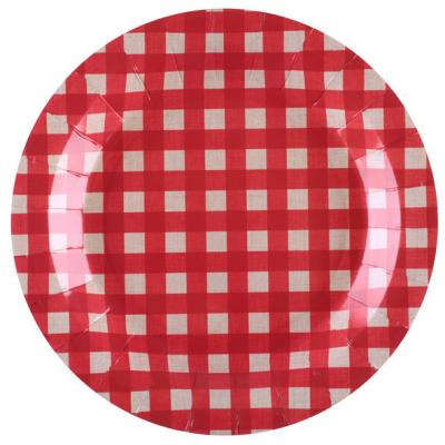 Assiette tradition rouge (x10) REF/5682