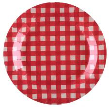 Assiette tradition rouge