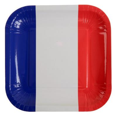 Assiette tricolore France (x10) REF/4166