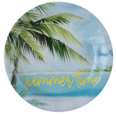 Assiette tropicale summer time (x10) REF/6308