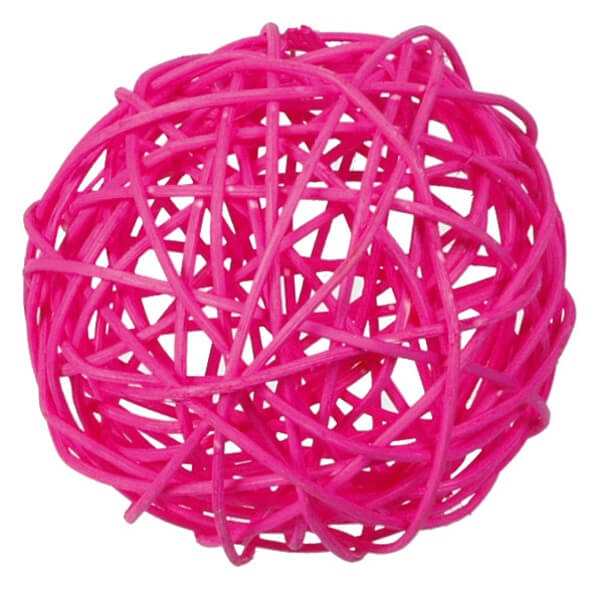 Assortiment boule de rotin fuchsia decorative