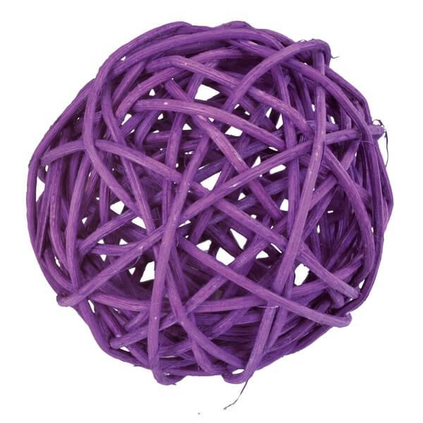 Assortiment boule de rotin prune decorative