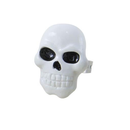 Bague halloween tete de mort