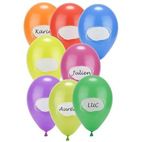 Ballon a personnaliser multicolore en latex