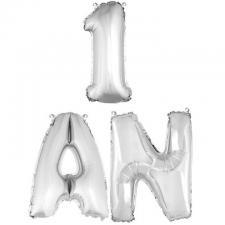 Ballon aluminium anniversaire argent 1an (x1) BA3000-BA3005
