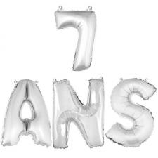 Ballon aluminium anniversaire 7ans argent (x1) BA3000-BA3008