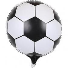 Ballon aluminium noir et blanc ballon de football (x1) REF/70901