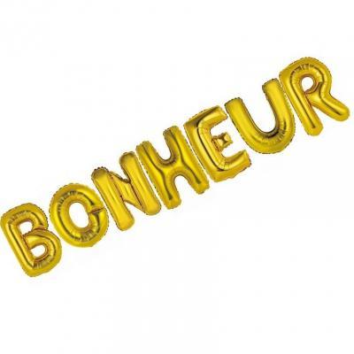 Ballon aluminium BONHEUR or (x1) REF/BALMORL
