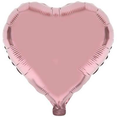 Ballon coeur rose gold en aluminium de 36cm (x1) REF/BA3004