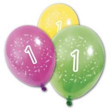 Ballon anniversaire 1an (x8) REF/BA1001