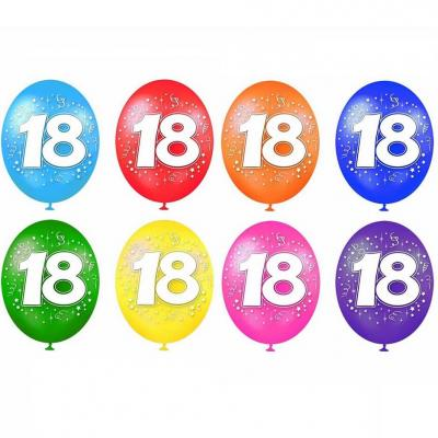 Ballon anniversaire 18ans (x8) REF/BAL02