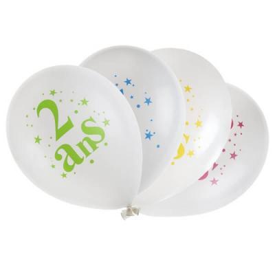 Ballon anniversaire: 2ans (x8) REF/5226
