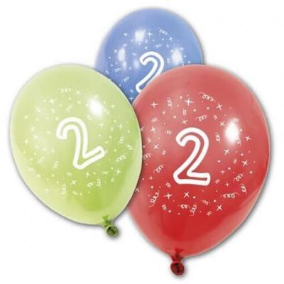 Ballon anniversaire 2ans (x8) REF/BA1002