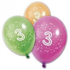 Ballon anniversaire 3ans (x8) REF/BA1003
