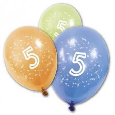 Ballon anniversaire 5ans (x8) REF/BA1005