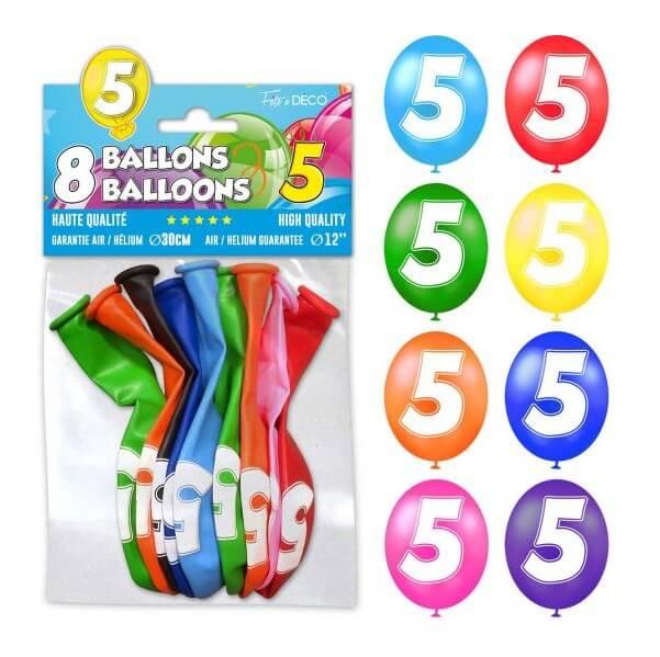 Ballon anniversaire 5ans 1
