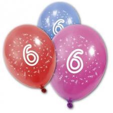 Ballon anniversaire 6ans (x8) REF/BA1006