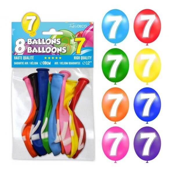 Ballon anniversaire 7ans 1