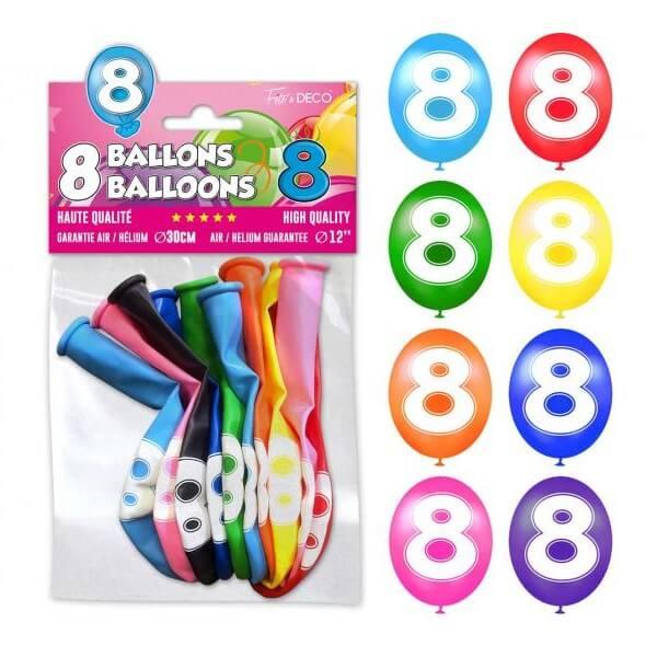 Ballon anniversaire 8ans 1