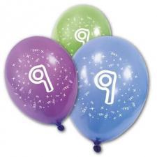 Ballon anniversaire 9ans (x8) REF/BA1009