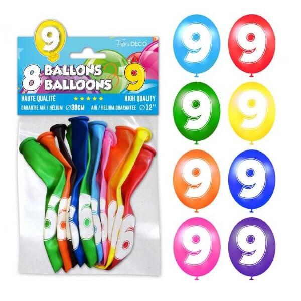 Ballon anniversaire 9ans 1