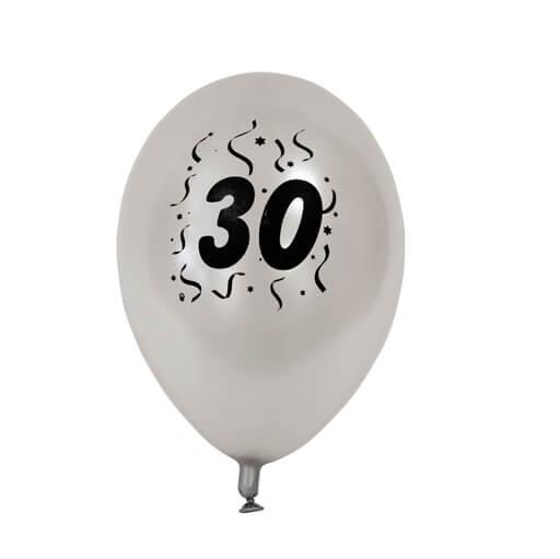 Ballon anniversaire argent 30ans