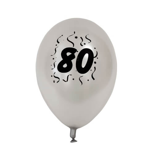 Ballon anniversaire argent 80ans