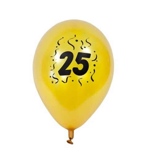Ballon anniversaire or 25ans