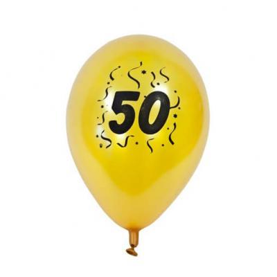 Ballon anniversaire nacré or 50ans (x8) REF/BAL450