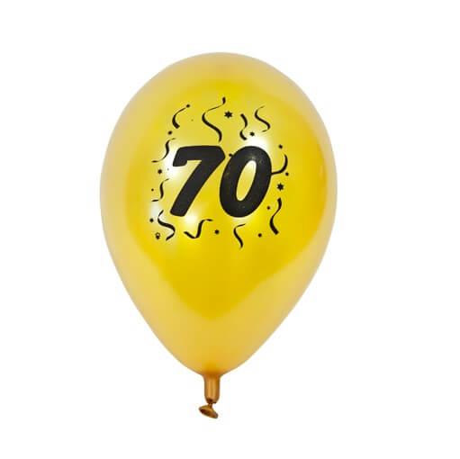 Ballon anniversaire or 70ans