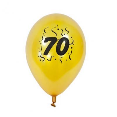 Ballon anniversaire nacré or 70ans (x8) REF/BAL470