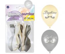 Ballon baptême (x8) REF/BALB