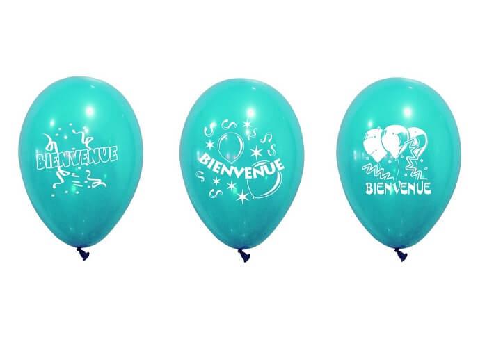 Ballon bienvenue bleu turquoise