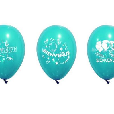 Ballon bienvenue bleu turquoise (x8) REF/BAL229