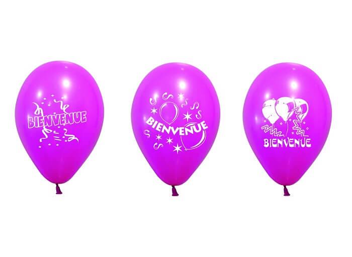 Ballon bienvenue fuchsia