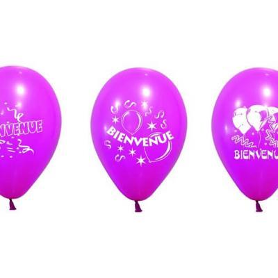 Ballon bienvenue fuchsia (x8) REF/BAL229