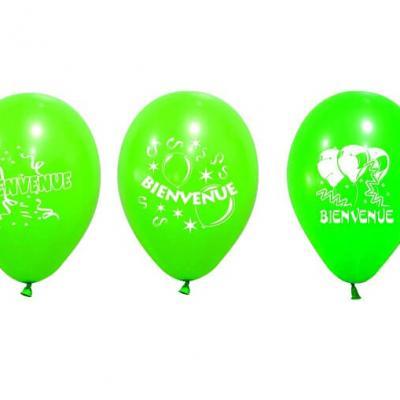 Ballon bienvenue vert menthe (x8) REF/BAL229