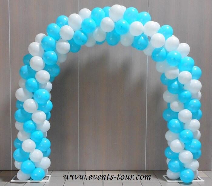 Ballon blanc de 25cm de fabrication francaise en latex