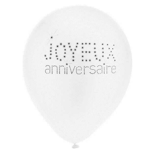 Ballon blanc joyeux anniversaire