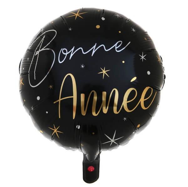Ballon bonne annee noir et or du nouvel an