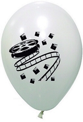 Ballon cinema blanc