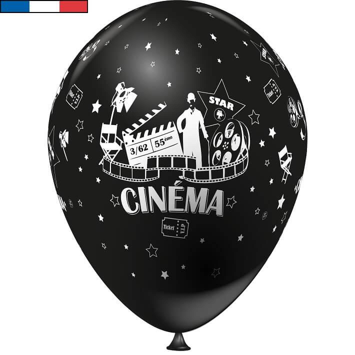 Ballon cinema noir en latex de fabrication francaise
