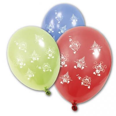 Ballon multicolore: Clown (x8) REF/BA1410