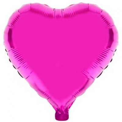 Ballon coeur fuchsia en aluminium 36cm (x1) REF/BA3004