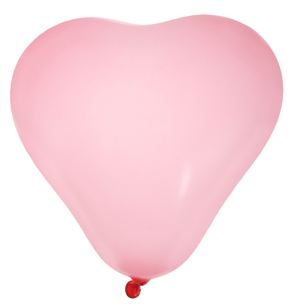 Ballon coeur rose 1